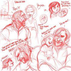 Clegane/Stark sketchdump by kallielef on deviantART