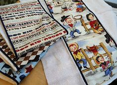 Small quilt projects like these Wild West Burp Cloths can be a great idea for helping new mothers care for their little ones.