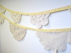WOW! The best thing I've seen yet to do w/ my Granny's old doilies!  janellish.etsy.com little trailer idea