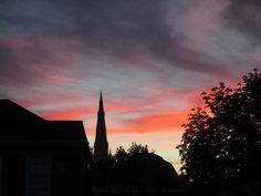 Anthony Sargeant took this photograph from the second bedroom of his second home in Newark-on-Trent, Nottinghamshire, England. The town is an ancient, mostly Georgian, market town and it still has an active open air market 6 days a week Bedroom Windows, Two Bedroom, Newark On Trent, Landscape Photographers, Photographs, England, Sunset, Georgian, Videos