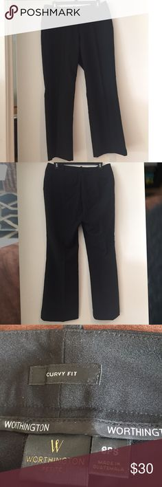 Worthington black slacks, brand new, 8P, curvy fit Worthington black slacks, brand new, 8P, curvy fit, never worn. NWOT. $65 Retail. Worthington Pants Trousers