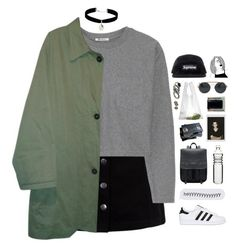 """// a n g s t y //"" by theonlynewgirl ❤ liked on Polyvore featuring T By Alexander Wang, Burberry, adidas Originals, Miss Selfridge, Dot & Bo, Peek, AZUMI AND DAVID and Moore & Giles"