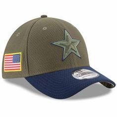 quality design 5a462 453a6 Dallas Cowboys New Era 2017 Salute To Service 39THIRTY Flex Hat Olive