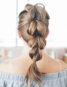 pull through braid hair | hairstyles for girls | easy and beginners | ponies | highlights | haircut
