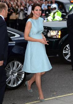 Kate Middleton - maternity dress, but love the color, neckline, shape, and length.
