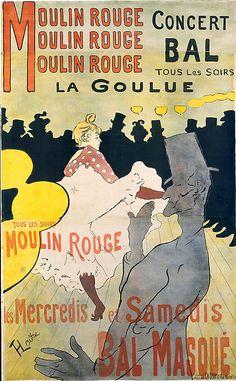 Lithograph by Henri de Toulouse-Lautrec, 1891, Moulin Rouge: La Goulue, The Metropolitan Museum of Art.