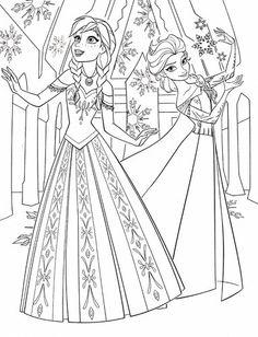 Walt Disney Coloring Pages Princess Anna & Queen Elsa Wallpaper HD ...