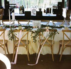 simple chair garlands   A Bryan Photo