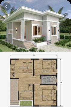 House Layout Plans, My House Plans, Modern House Plans, Small House Plans, House Layouts, Minimal House Design, Simple House Design, Bungalow House Design, Tiny House Design