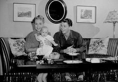 Ronald Reagan with first wife Jane Wyman and daughter Maureen C. 1942