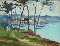 Douarnenez. MARINES & Autres peintures: Jo. COAT (1897 - 1969)