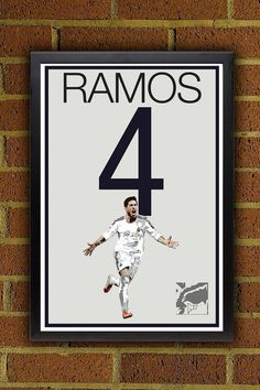 Sergio Ramos Poster  Real Madrid Poster #soccer #football #homedecor #g17 #futbol #decor #art #print #poster