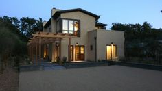 like this exterior, the windows, roof lines, stucco