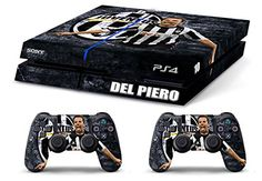 Skin PS4 HD ALEX DEL PIERO ULTRAS JUVENTUS limited edition Playstation 4 COVER DECAL