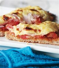 Weigh-Less Online - Ham And Tomato Welsh Rarebit Eating Plans, Welsh, Lasagna, Ham, Diet Recipes, French Toast, Pork, Healthy Eating, Breakfast