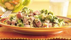 This no-fuss skillet meal blends packaged rice mix with precooked ham and vegetables.