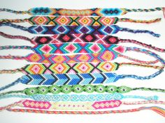 Embroidery Floss Friendship Bracelet Patterns - Embroidery