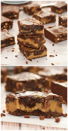 Buckeye Brownies that are easy to make, rich, chewy and simply amazing!