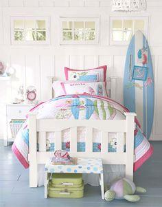 Little girl room decor pink blue room decor toddler girl room decor girl room wall pink blue summer vintage surf style printable art set