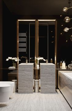 Luxury master bathroom ideas decor is totally important for your home. whether you choose the bathroom ideas apartment design or small bathroom decorating Bathroom Spa, Modern Bathroom, Bathroom Lighting, Bathroom Ideas, Bathroom Toilets, Bathroom Vanities, Royal Bathroom, Serene Bathroom, Restroom Ideas
