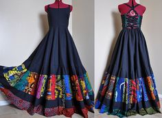 Midnight Ballad  Long African Corset Dress One by BarefootModiste, $189.00