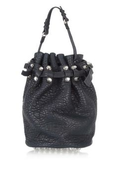 The Bucket Bag Alexander Wang Diego Textured-Leather Shoulder Bag, $875; net-a-porter.com look at the little feet