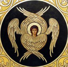 A seraph angel icon / highest rank in the Christian angelic hierarchy Byzantine Icons, Byzantine Art, Christian Symbols, Christian Art, Order Of Angels, Seraph Angel, Cherub Tattoo, Seraphin, Ange Demon