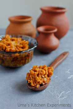 Grated Raw Mango Pickle ~ Raw mango cooked with Indian spices