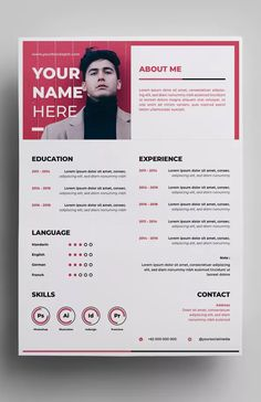 Continue design according to surotype on Envato Elements - graphic - Resume Design by surotype on Envato Elements Resume template AI, EPS Resume Layout, Resume Tips, Resume Examples, Resume Cv, Resume Skills, Portfolio Web, Portfolio Resume, Portfolio Design, Web Design