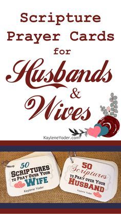 100 Scripture Prayer Cards for Husbands & Wives
