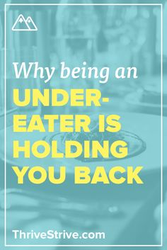 Everyone knows that you need to eat the right foods to be healthy, but are you eating enough of the right foods to get to where you want to go?