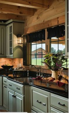 Log Home Interior Colors Interior Paint Colors For Log Homes Best Log Home Kitchens Ideas On Log Cabin Kitchens Designs Log Home Interior Paint Colors Rustic Kitchen Cabinets, Rustic Kitchen Design, Kitchen Decor, Kitchen Wood, Rustic Design, Glass Kitchen, Wood Cabinets, Primitive Kitchen, Kitchen Industrial