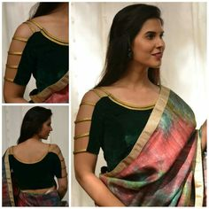Want to get that stylish look in Saree. Take a look at these stunning and trending blouse designs photos for ultimate style. Blouse Back Neck Designs, Fancy Blouse Designs, Bridal Blouse Designs, Designs For Dresses, Saree Jacket Designs, Blouse Designs Catalogue, Stylish Blouse Design, Sport, Classy Fashion