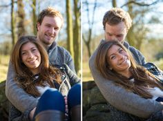 Winter woodland engagement shoot at Thorndon Country Park Brentwood Essex by Anesta Broad Photography