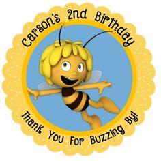 Custom MAYA the BEE Stickers   Maya The Bee Favor Tags    Maya the Bee Birthday