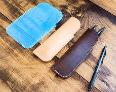 MAKESUPPLY Shop - Leathercraft templates, leather supplies, and Leather Keychain, Leather Wallet, Leather Bag, Diy Leather Goods, Diy Leather Projects, Leather Crafts, Leather Working Patterns, Leather Pattern, Pen Case