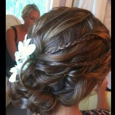 Beach wedding hair? Mabes, but still awesome for every day
