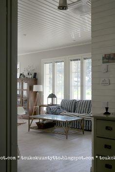 My livingroom 2, Pentik - IKEA Ektorp - Flea Market Finds - Kannustalo Merellinen sisustus, coastal style interior Living Room, Ikea Ektorp, Room, House, Interior, Home, Cottage Renovation, Ikea, Scandinavian Interior