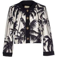 Fausto Puglisi Blazer ($500) ❤ liked on Polyvore featuring outerwear, jackets, blazers, white, white blazer, multi pocket jacket, long sleeve blazer, single breasted jacket and long sleeve jacket