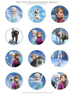 Frozen Party Free Printables   Invitations, Stickers, Cupcake Toppers, Elsa  Crown And Lots More.