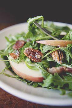 Fuji Apple Salad with Bacon, Pecans, and Maple Yogurt Dressing