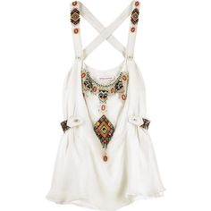 Matthew Williamson Charm beading camisole top ($1) ❤ liked on Polyvore