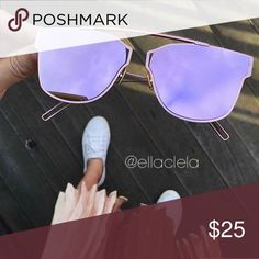 Must Have Sunglasses Pink! You always see these glasses on Instagram and Blogs. Brand new and high quality. UV Protection. Accessories Sunglasses
