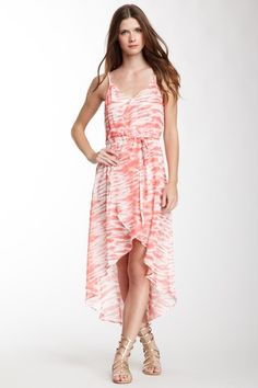 {Faux Wrap Hi-Lo Maxi Dress} Love Stitch