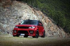 Range Rover Sport Lumma CLR RS Red