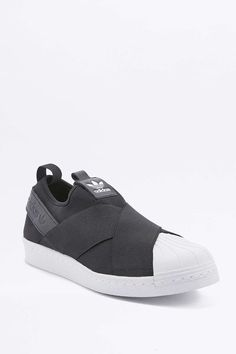 adidas Originals Superstar Black Slip-On Trainers