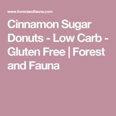 Cinnamon Sugar Donuts - Low Carb - Gluten Free | Forest and Fauna