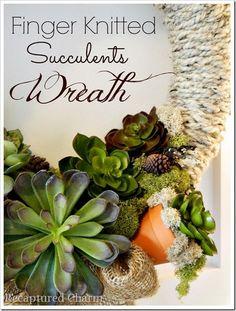 DIY Succulents Wreath #wreath #theweeklycreative