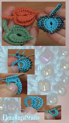How To Crochet Leaf Tutorial 55 Crochet Cord, Freeform Crochet, Thread Crochet, Crochet Flower Tutorial, Crochet Flower Patterns, Crochet Flowers, Loom Knitting Patterns, Crochet Stitches Patterns, Crochet Lovey Free Pattern