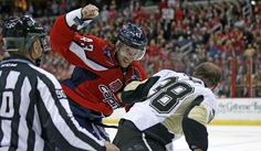Ovechkin Tallies as Capitals blank the Penguins Washington Capitals, Pittsburgh Penguins, Nhl, Spotlight, Motorcycle Jacket, Amber, Jackets, Tops, Down Jackets